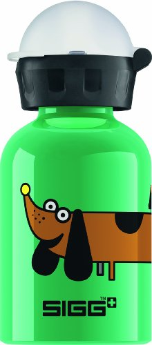 Sigg Animal Mix Up Pup Water Bottle, Green, 0.3-Liter front-911694