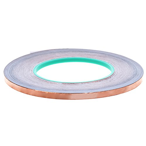 BCP Double Conductive EMI Shielding Copper Foil Tape- 1/4 Inch X 55 Yds.