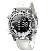 Emporio Armani Mens Digital White PU Band Multifunctional Sports Watch AR5853