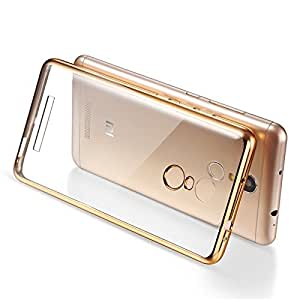 LYF Water 2 (LS-5008) Gold Electroplated Ultra Thin Flexible Transparent Silicon Back Cover For LYF Water 2 (LS-5008)