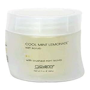 Giovanni Salt Scrub, Cool Mint Lemonade, 9 oz (260 g) (Pack of 2)