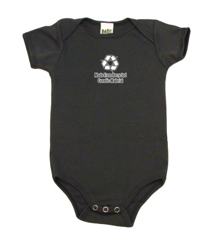 Made From Recycled Genetic Material On Infant Onesie, 3-6 Mo, Asphalt front-987850
