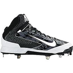 Nike Men\'s Huarache Black Camo Pro Mid Metal Baseball Cleat 13.5