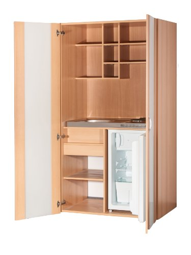 Schrankküche Buche 1,00 m Büroküche Kühlschrank Singleküche Minik des Herstellers Mebasa