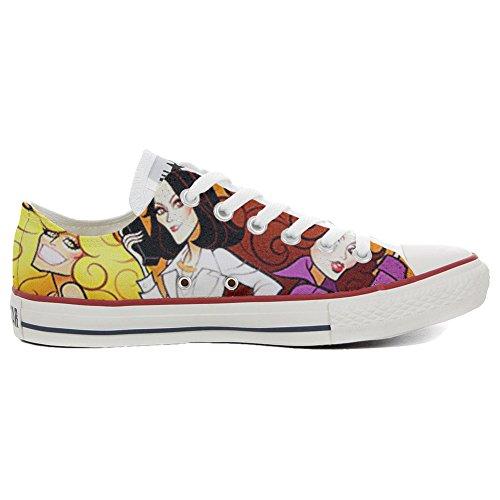 CONVERSE All Star Slim scarpe personalizzate Sneaker unisex (Scarpa artigianale) Slim Charlies Angel's - TG38