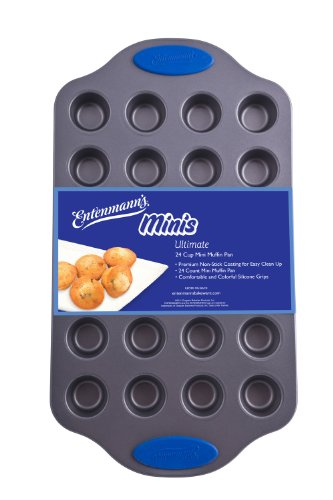 Entenmanns Bakeware ENT29013 Ultimate Mini Muffin/Cupcake Pan, 24-Cup