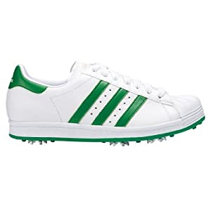 2014 Adidas Golf Sport Mens Superstar Golf Shoes White/Fairway Green 10.5UK