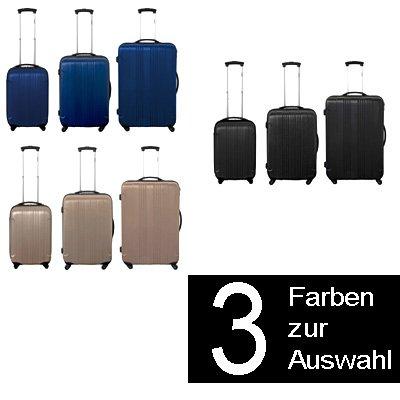 3 teiliges ABS-Trolley-Koffer-Set Hartschalenkoffer