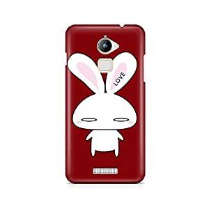 Motivatebox - Coolpad Note 3 Lite Back Cover - Love Bunny Polycarbonate 3D Hard case protective back cover. Premium Quality designer Printed 3D Matte finish hard case back cover.
