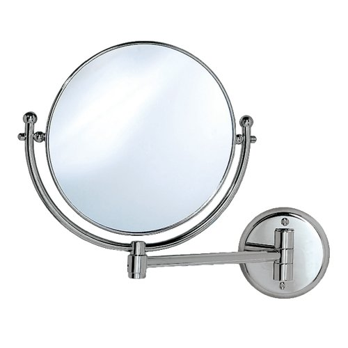 Gatco 1424 Wall Mount Mirror With 9-Inch Swing Arm Extends, Chrome