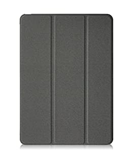 KHOMO iPad Pro 9.7 Inch Case (2016) - DUAL TWILL Grey Super Slim Cover with Rubberized back and Smart Feature (Built-in magnet for sleep / wake feature) For Apple iPad Pro Mini 9.7 Tablet by KHOMO
