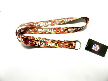 San Francisco 49ers Camouflage Lanyard in Team Colors at Amazon.com