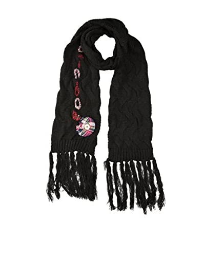 Desigual Sciarpa Carryov Patch Flower [Nero]