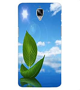 ColourCraft Creative Leafs Design Back Case Cover for OnePlus Three