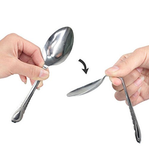 HuntGold Mind Bending Spoon Close Up Magic Trick Prop Street Stage Performance Show Kit (Spoon Bending compare prices)