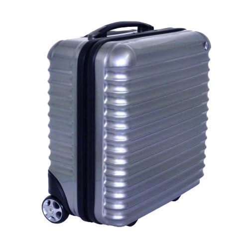 【機内持込可】 MOA モア スーツケース ビジネス キャリーバッグ 47cm  ABS樹脂+ポリカーボネートコーティング 鏡面加工 軽量 1~2日用 NET-909 (シルバー)