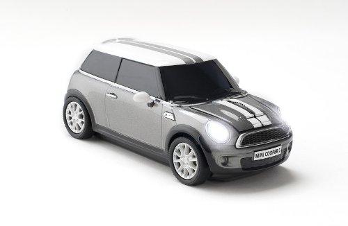 Click Car Mini Cooper S Wireless Optical Mouse – Dark Silver
