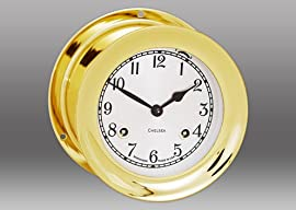 6 Shipstrike Clock in Brass