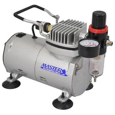 Master Airbrush Compressor with Water Trap and Regulator, Now Includes a (FREE) 6 Foot Airbrush Hose and a (FREE) How to Airbrush Training Book to Get You Started, Published Exclusively By Master Airbrush