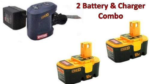 ryobi 2 pack p100 one 18v 1 5ah batteries 1 p111 slow. Black Bedroom Furniture Sets. Home Design Ideas