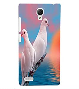 ColourCraft Beautiful Pigeons Design Back Case Cover for XIAOMI REDMI NOTE 4G