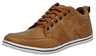 Red Rose Men's Tan Casual Shoes (10, Brown)