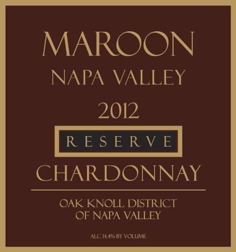 2012 Maroon Reserve Chardonnay 750 Ml