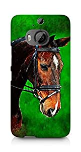 Amez designer printed 3d premium high quality back case cover for HTC One M9+ (Painting Horse)