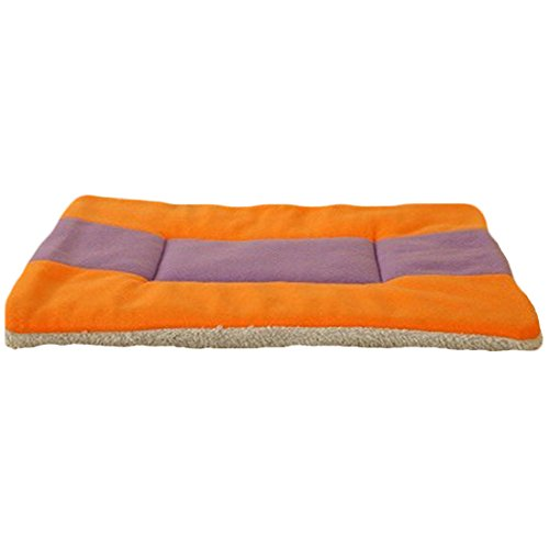 Spring fever Pet Bed Crate Mattress Multi Sizes Dog Cat Bed Water-resistant base Yellowpurple L(24.819.7inch)