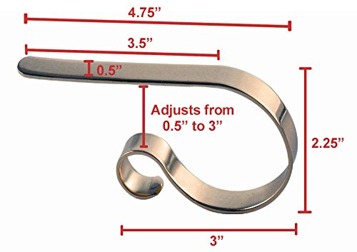 The Original MantleClip - 4 pack - Silver