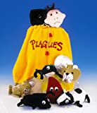 Adorable Set of Ten Plush Passover Plagues Representations, with Convenient Carrying Drawstring Bag