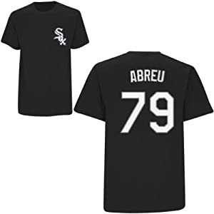 Jose Abreu Chicago White Sox Black Youth Player T-Shirt by Majestic by Majestic
