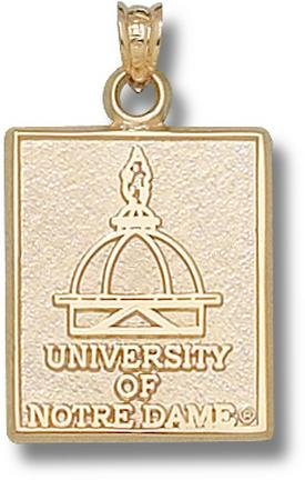 Notre Dame Fighting Irish University of Notre Dame Dome Pendant - 14KT Gold Jewelry by Logo Art