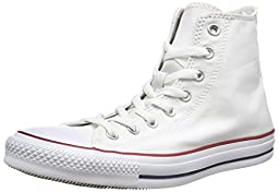 Converse Unisex's CONVERSE CHUCK TAYLOR ALL STAR HI BASKETBALL SHOES 6 (WHITE)