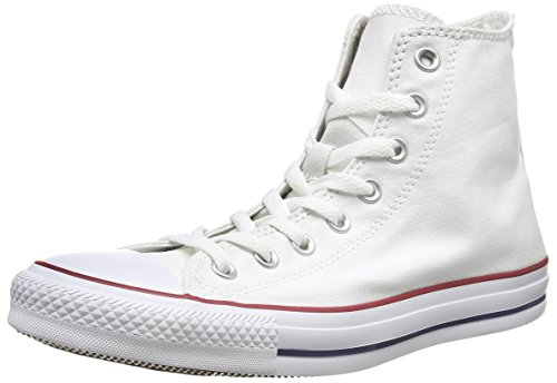 Converse All Star Hi Canvas Sneaker, Unisex Adulto, Bianco (Optical White), 45