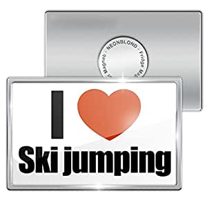 "Amazon.com - Fridge Magnet ""I Love Ski jumping ..."