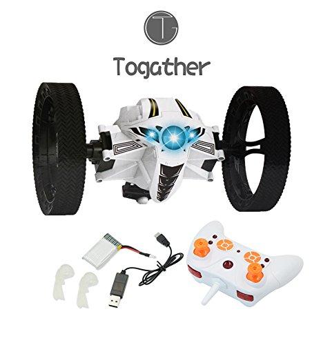 Togather® 2.4 G telecomando Mini rimbalzo auto, salto auto, RC rimbalzo salto Sumo auto Mini auto giocattolo con 2 seconda rotazione e LED luci rimbalzo RC giocattolo