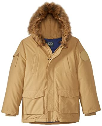 Amazon.com: Woolrich Big Boys' Parka Winter Jacket, Tan