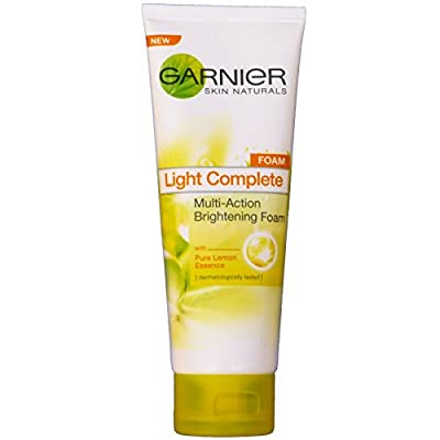 Cheapest Garnier Light Pure Lemon Gentle Clarifying Whitening Facial Cleanser Foam 100ml.product of Thailand by Usa - Free Shipping Available