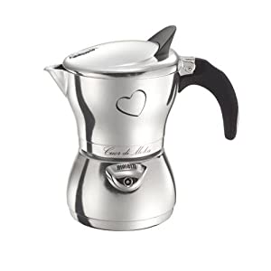 Bialetti Cuor Di Moka, 3 Cup Polished Aluminum from Bialetti