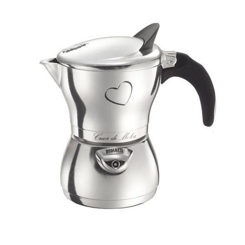 Bialetti Cuor Di Moka, 3 Cup Polished Aluminum