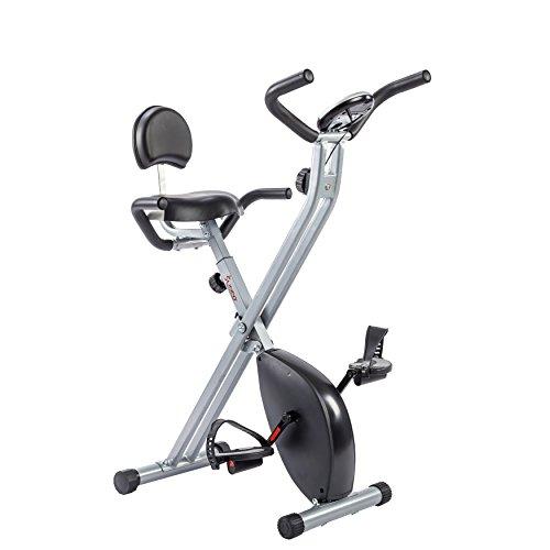 Sunny Health & Fitness Folding Recumbent Bike, Gray