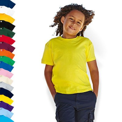 Fruit of the Loom - Kids Value Weight T / Sky Blue, 128 128,Sky Blue