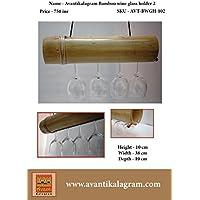 Avantikalagram Bamboo Wine Glass Holder 2