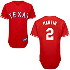 Leonys Martin Texas Rangers Alternate Red Replica Jersey by Majestic by Majestic