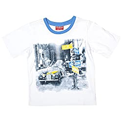 Beebay Cotton White Casual T-Shirt For Boys ( Size-7 Years )