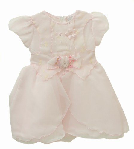 Girls Christening/Party Formal Dress (Baby Pink) (3 years) (Pink)