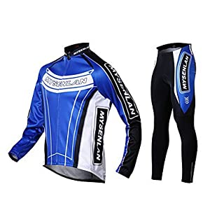 NEW-MYSENLAN Mens Fall and Winter Style Cycling Suits with Dual Side Fleece , L by ELCE Stock