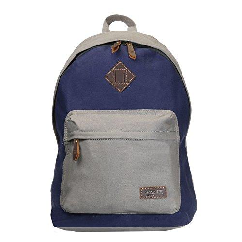 trp0384-troop-london-heritage-canvas-rucksack-casual-tagesrucksack-mehrfarbig-grey-navy