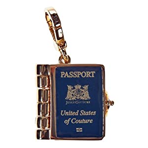 Juicy Couture - United States of Couture - Passport - Gold Plated Charm